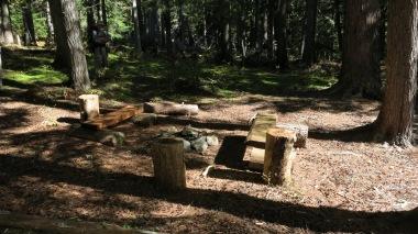 Campsite at mile 10